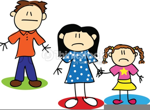 Unhappy Family Clipart.