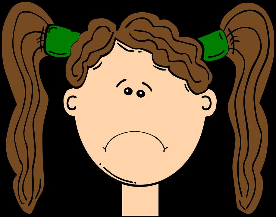 Unhappy Girl Clipart