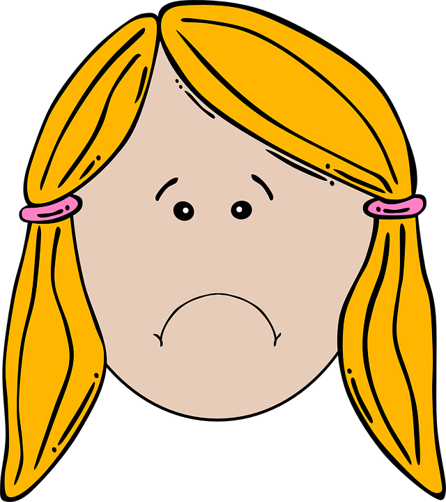 Free vector graphic: Girl, Face, Unhappy, Sad, Frowning.