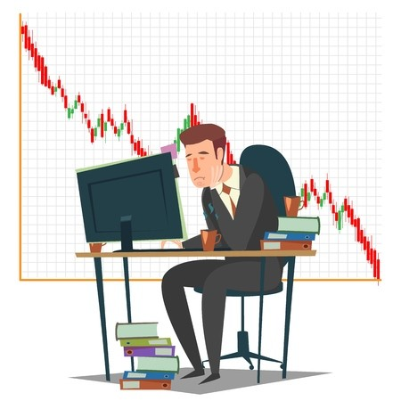Stock market, investment and trading concept vector.