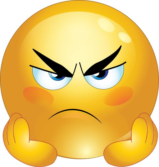 Angry Smiley Face Emoticons Clipart.