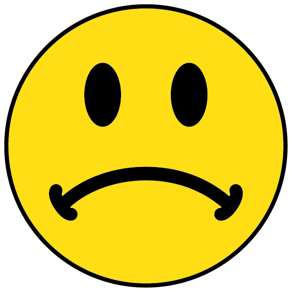 Unhappy smiley face clip art.