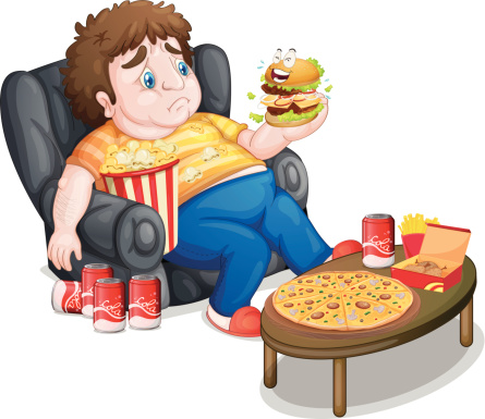 Unhealthy People Clipart.
