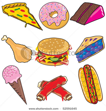 Unhealthy Food Clipart.