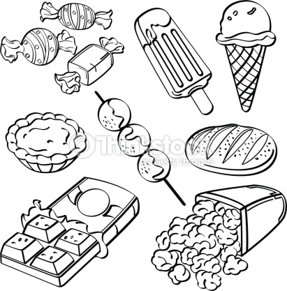 Junk foods clipart black and white 5 » Clipart Station.