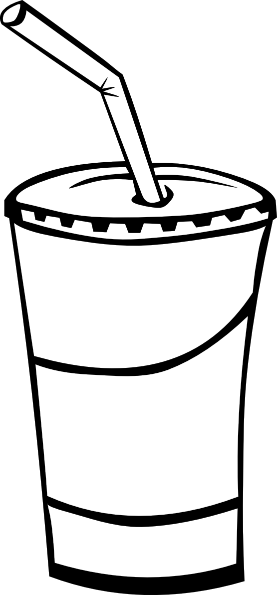 Junk Food Clipart Black And White.
