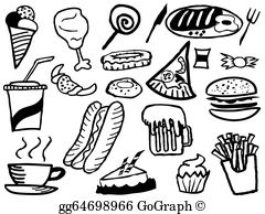 Junk foods clipart black and white 2 » Clipart Station.