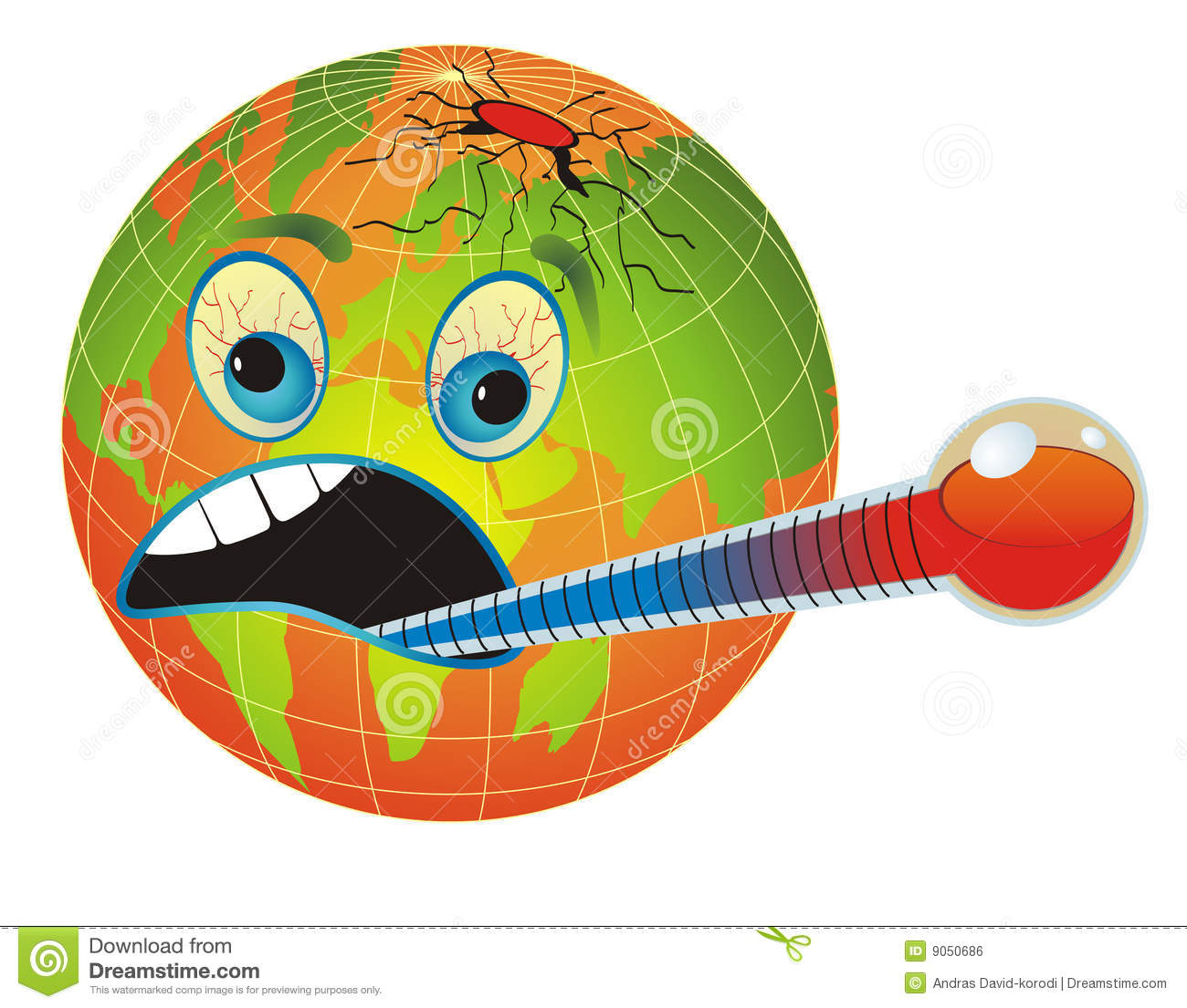 Sick, Unhealthy Earth. Stock Photo.
