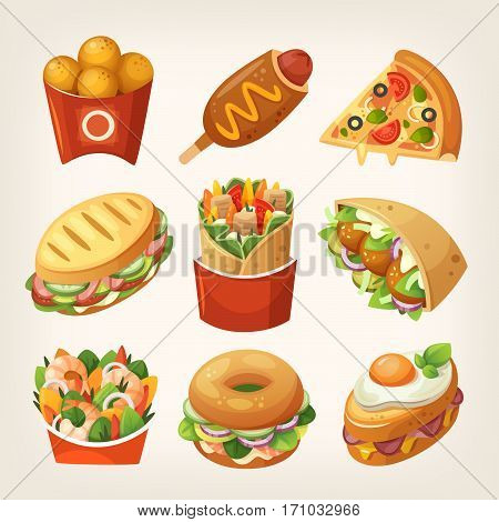 unhealthy food for kids clipart