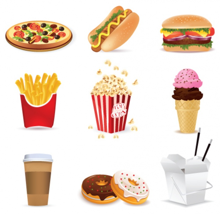 unhealthy food for kids clipart - Clipground
