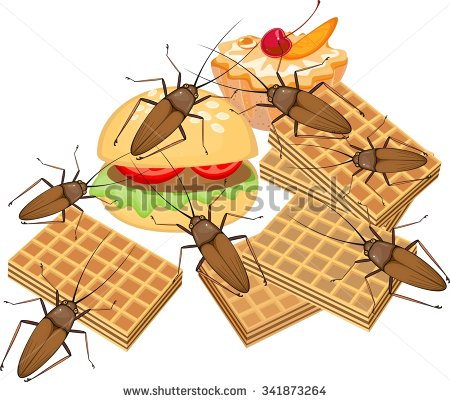 Unhygienic food clipart.
