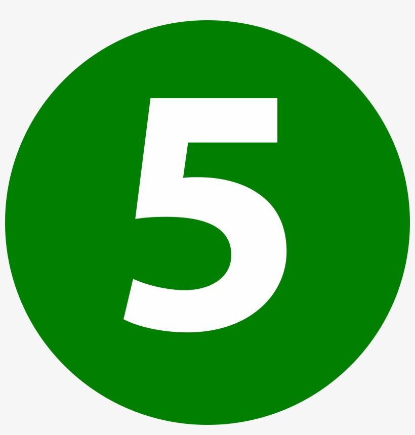 Number 5 Icon Png.