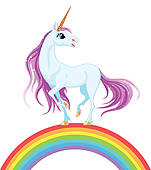 Rainbow Unicorn Clipart.