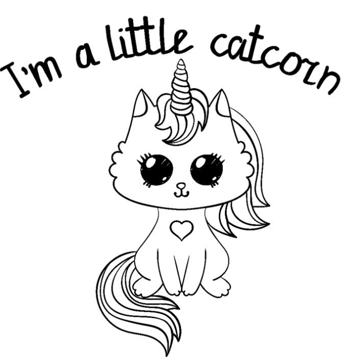 50 Cute Cartoon Unicorn Coloring Pages.