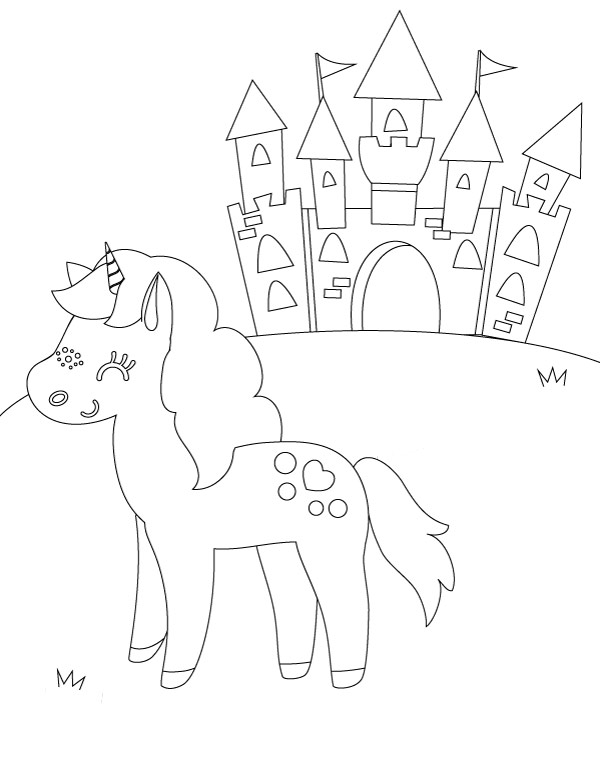 Unicorn Birthday Coloring Pages.