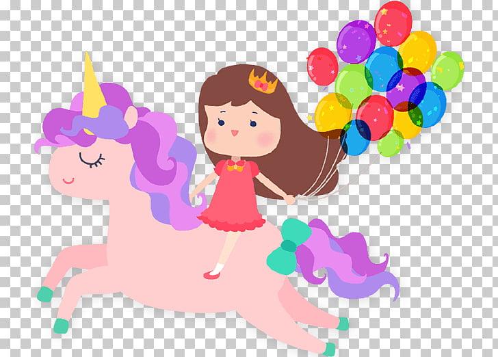 Unicorn Convite Party, unicorn birthday, girl holding.