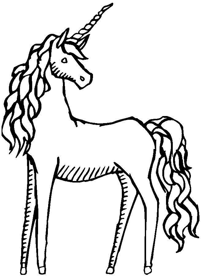 Unicorn black and white clipart 3 » Clipart Portal.
