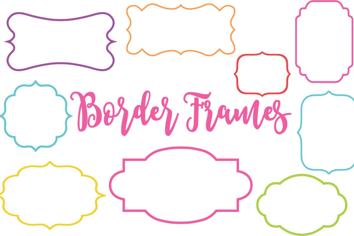 Border Frames Clip Art Set.