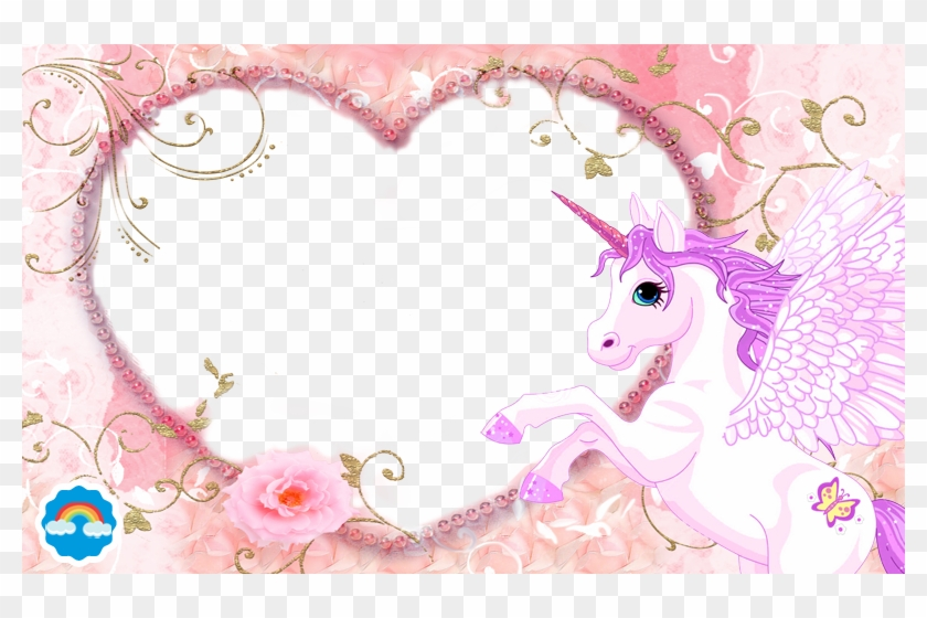 Unicorn Photo Frame Png, Transparent Png.