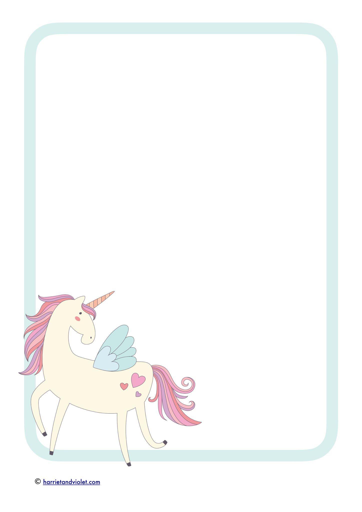 Unicorn Border Paper.