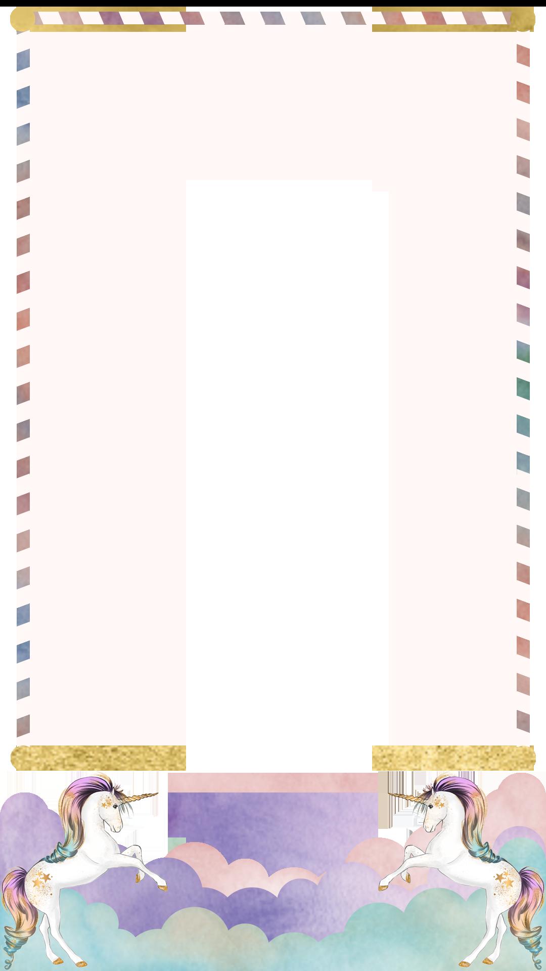 Unicorn Border Birthday Snapchat Filter.
