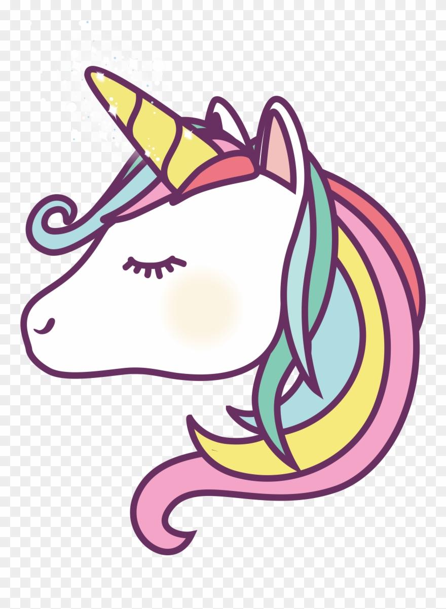 Cartoon Unicorn Face.