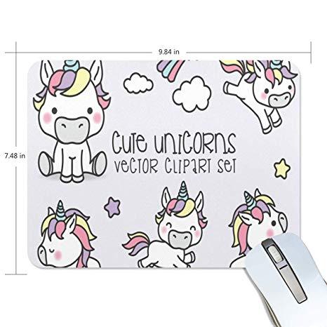 Amazon.com : Mouse Pad Cute Unicorn Clipart Gaming Mousepad.