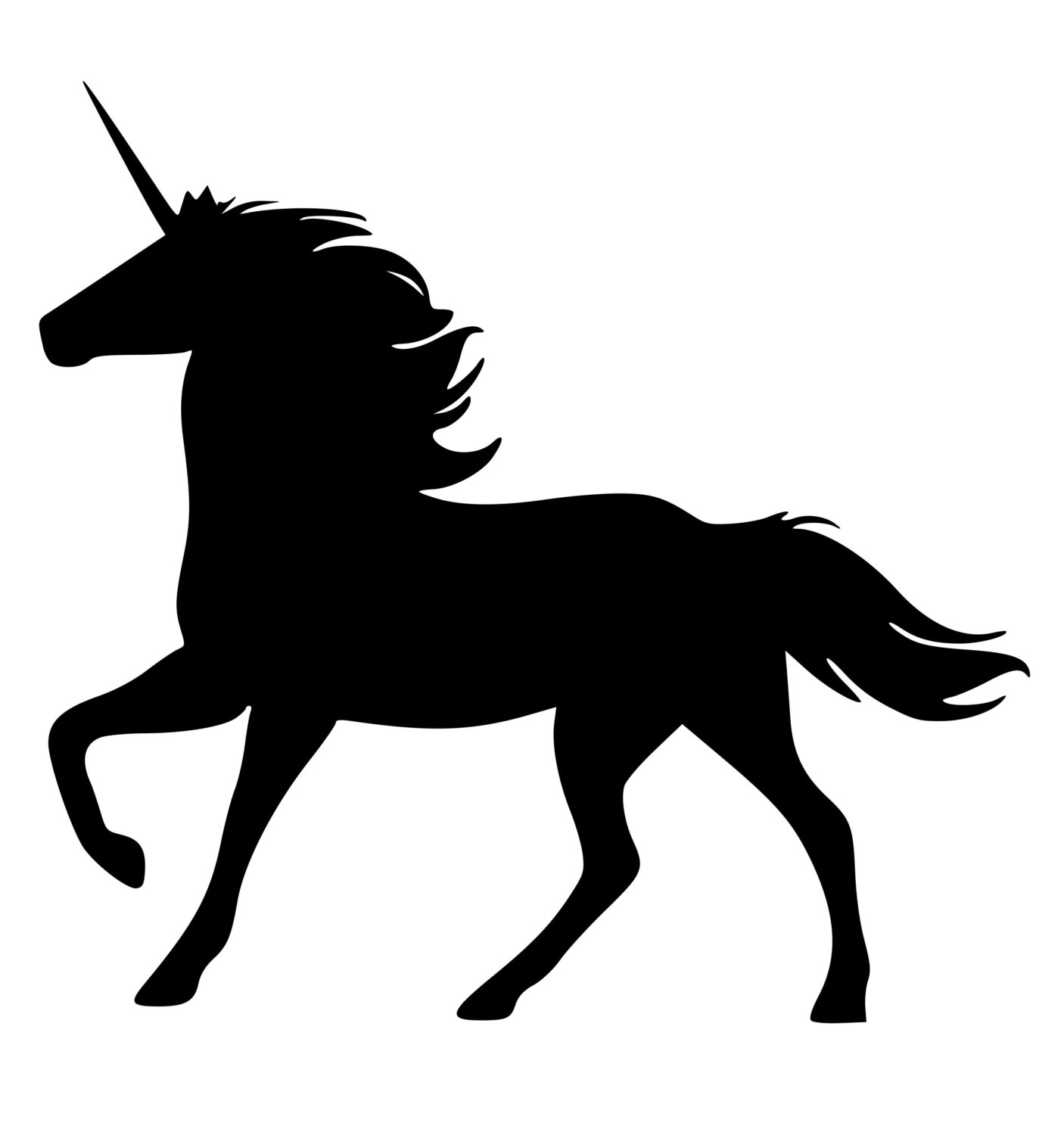 Unicorn Clipart Image: The Silhouette Of A Unicorn.