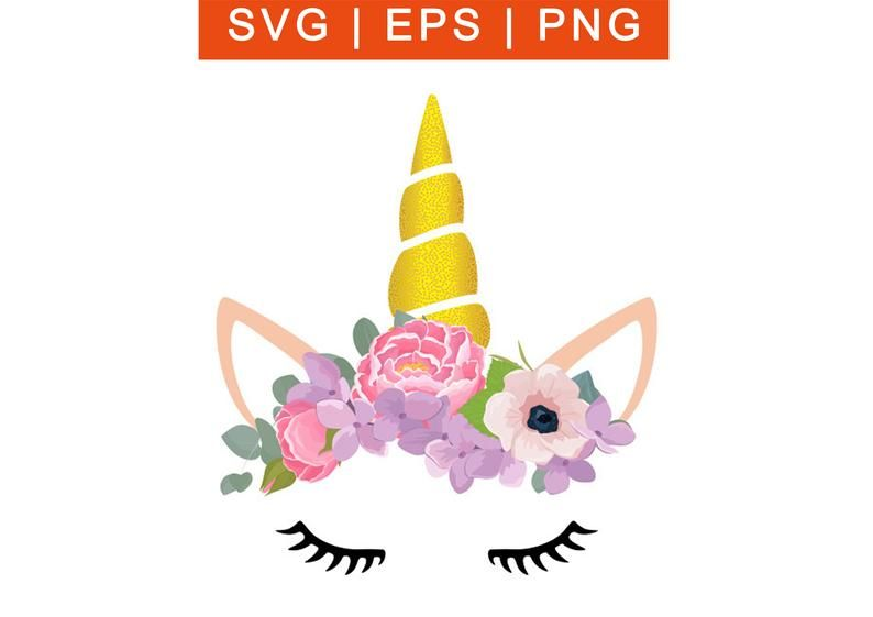 Unicorn Face SVG.