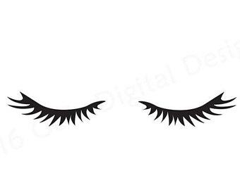 Eyelashes Clipart.