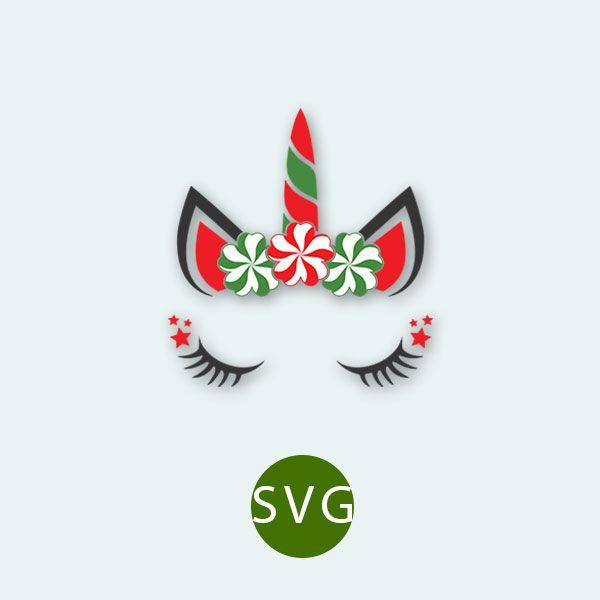 Christmas Unicorn SVG, EPS. Vector Clipart Digital.