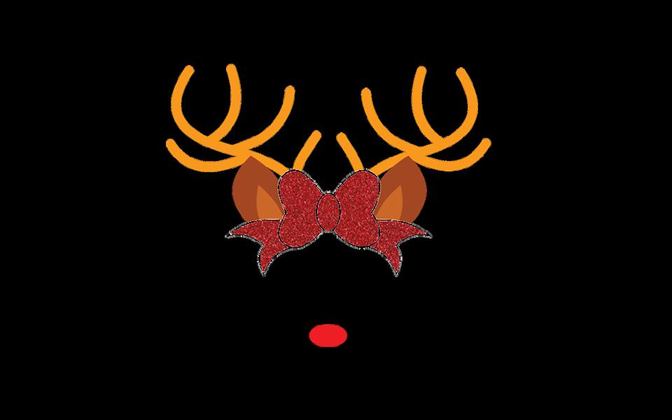 Free Reindeer Face SVG.
