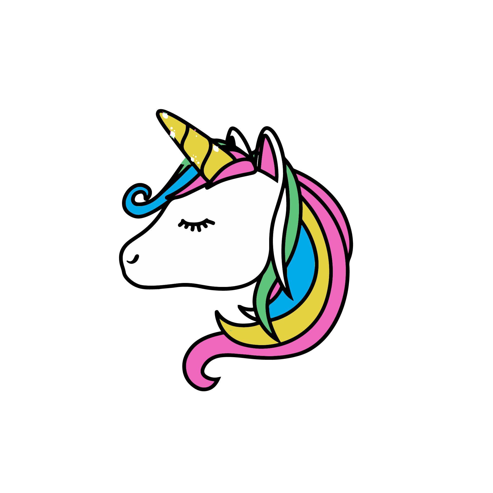 934 Unicorn Head free clipart.
