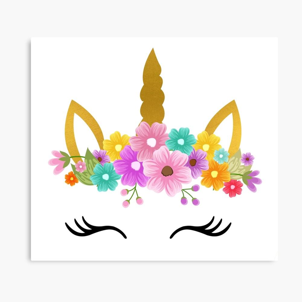 Unicorn Birthday / Unicorn head Flowers.