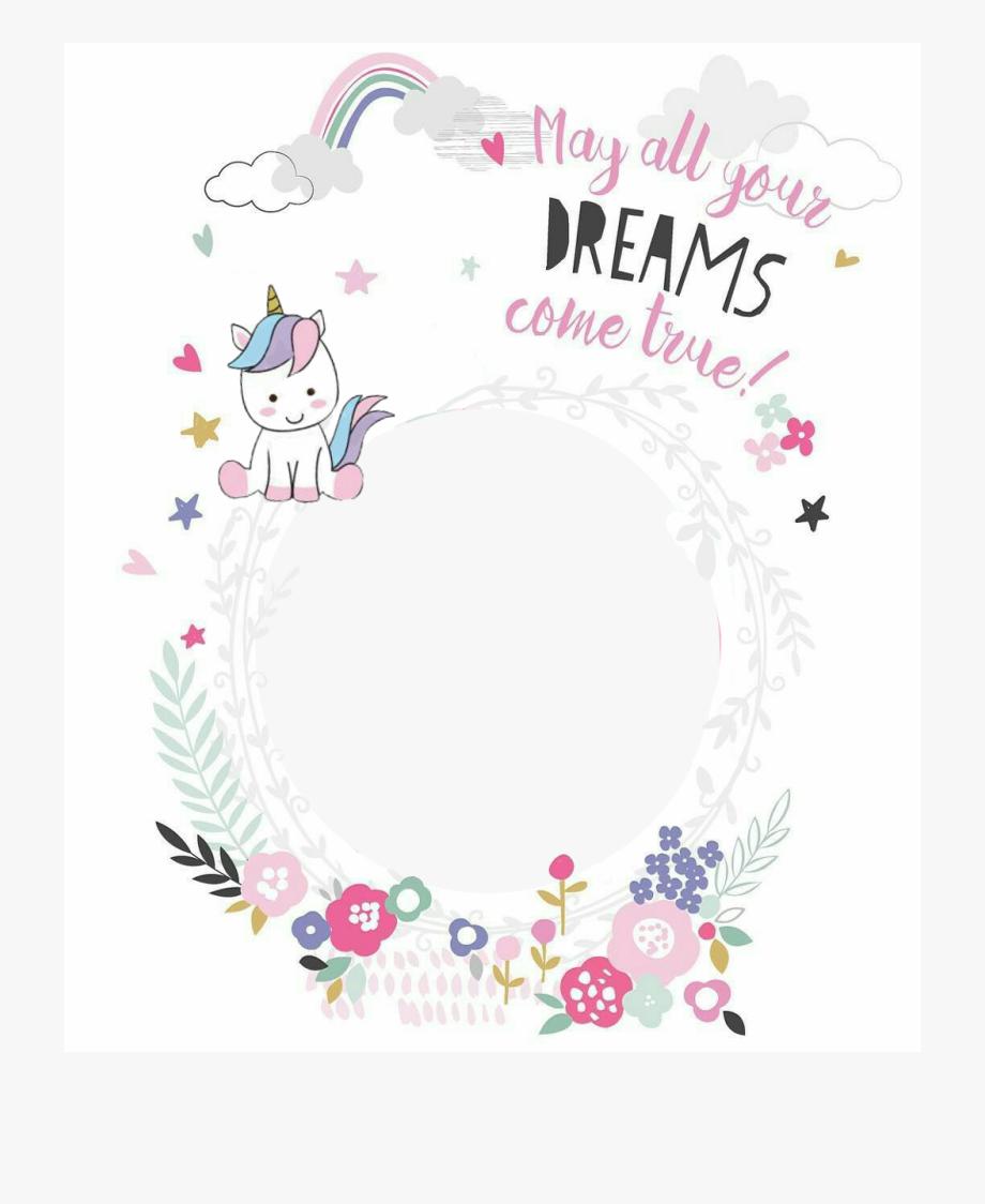 Unicorn Birthday Frame Png , Transparent Cartoon, Free.