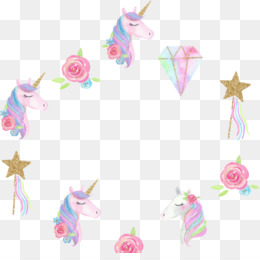 Unicorn Frame PNG and Unicorn Frame Transparent Clipart Free.