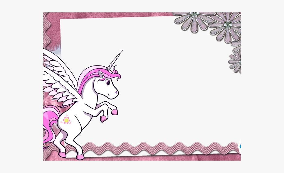 Unicorn Clipart Frame.
