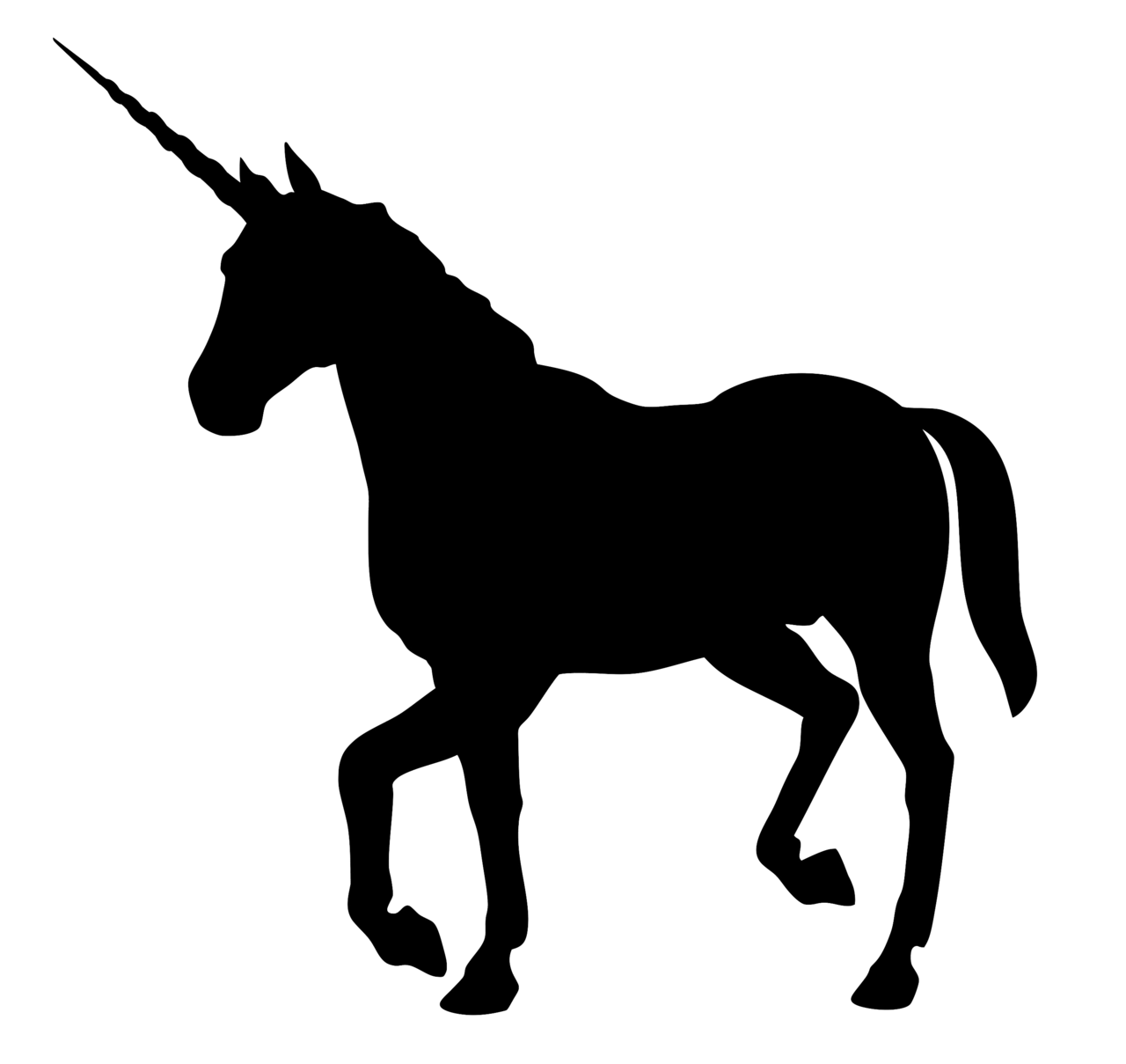 Unicorn Horse head mask Clip art.