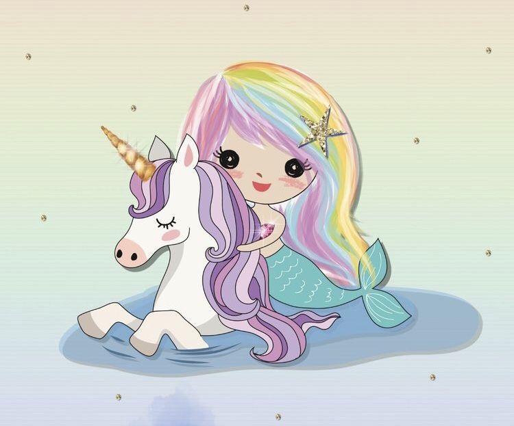 Cute Unicorn & Mermaid in 2019.