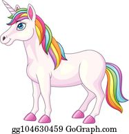 Rainbow Unicorn Clip Art.
