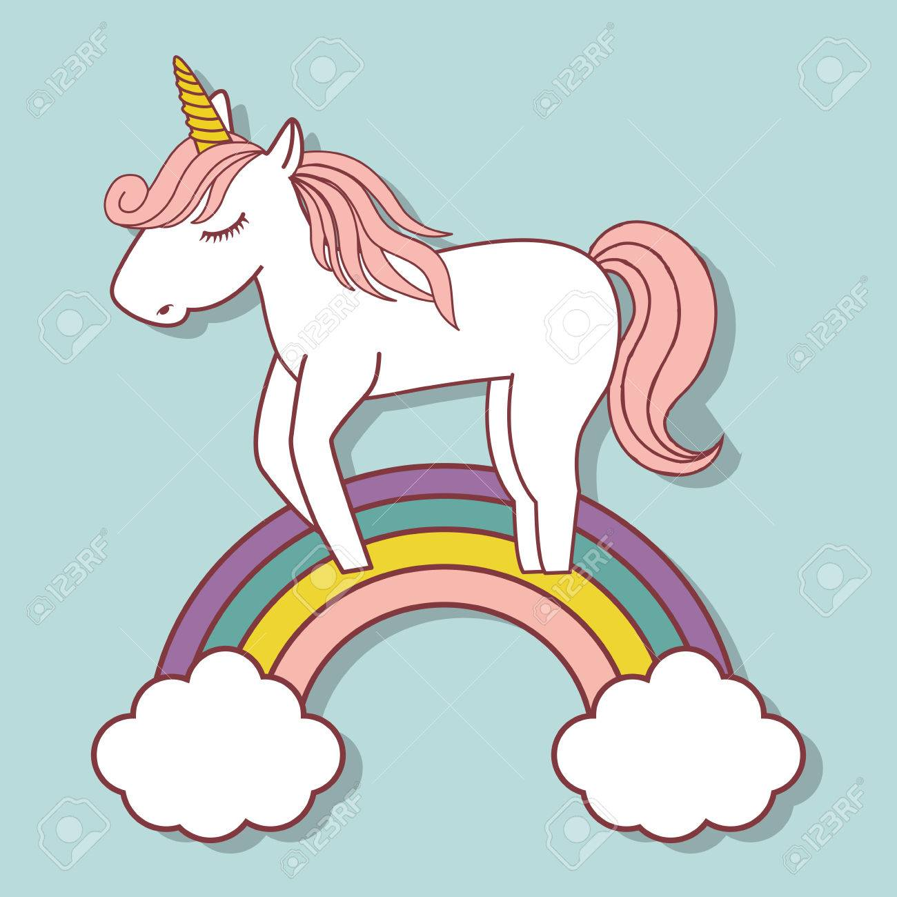 Rainbow Clipart Cute.