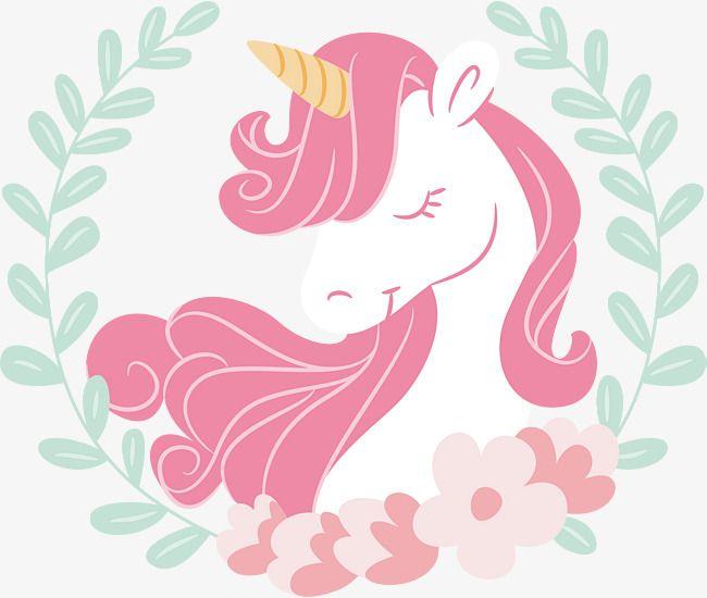 Pink Hair Unicorn, Vector Png, Unicorn, The Sleeping Unicorn.