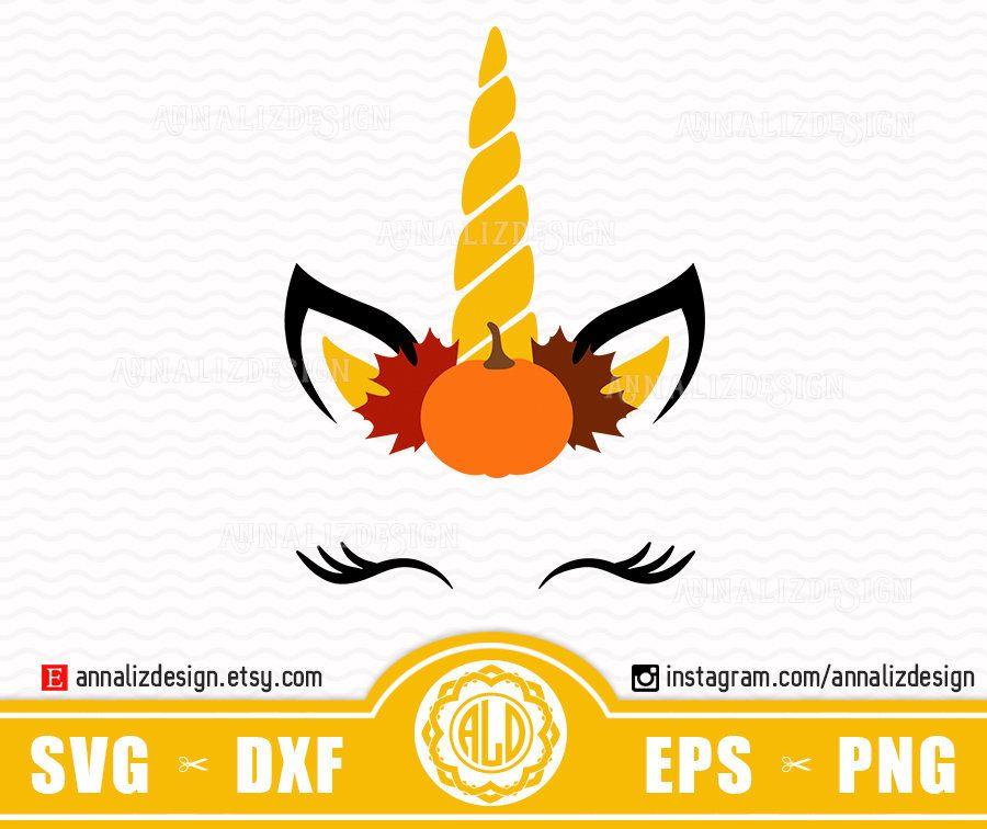 Pumpkin unicorn Svg, Unicorn face clipart, Fall svg, Pumpkin.