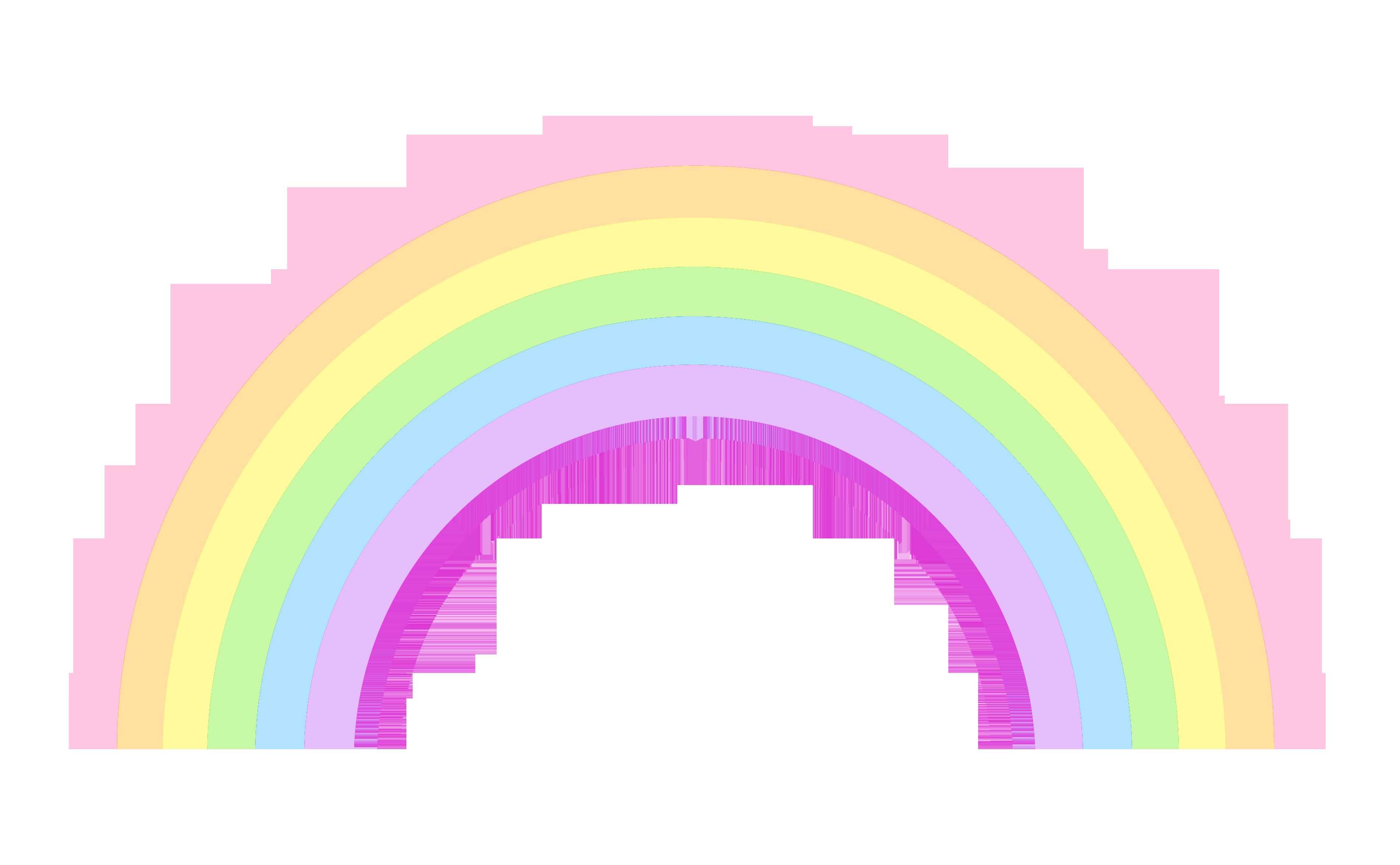 Cute Pastel Rainbow Sweet Clipart.