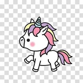 Unicorn Stickers, multicolored unicorn illustration.