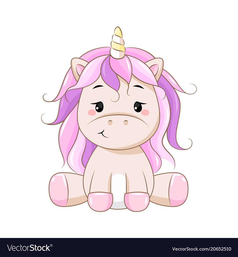Cartoon unicorn.