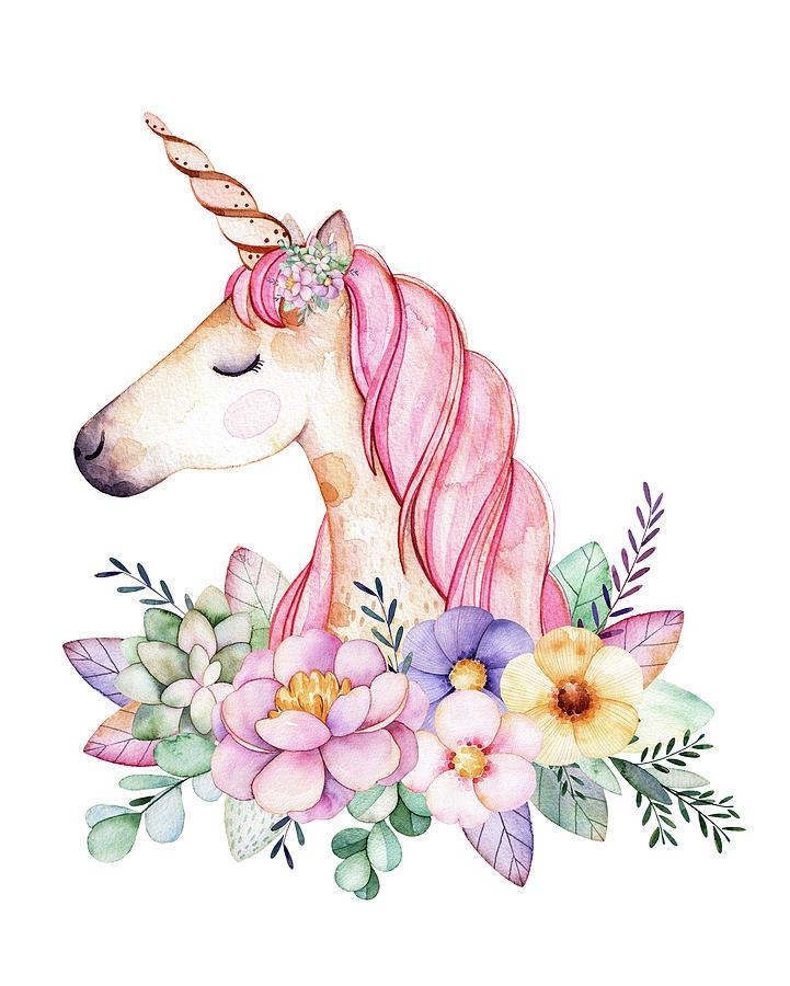 Unicorn Watercolor at GetDrawings.com.
