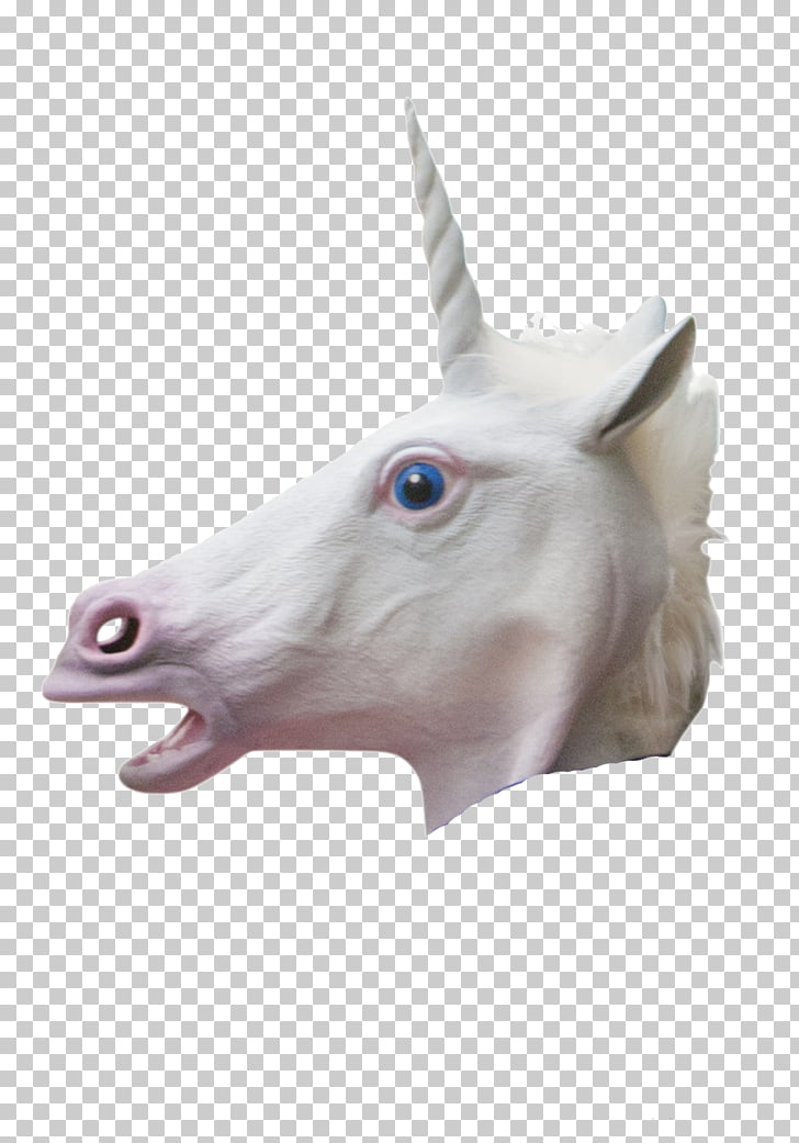 Unicorn Horse head mask Costume, unicorn PNG clipart.