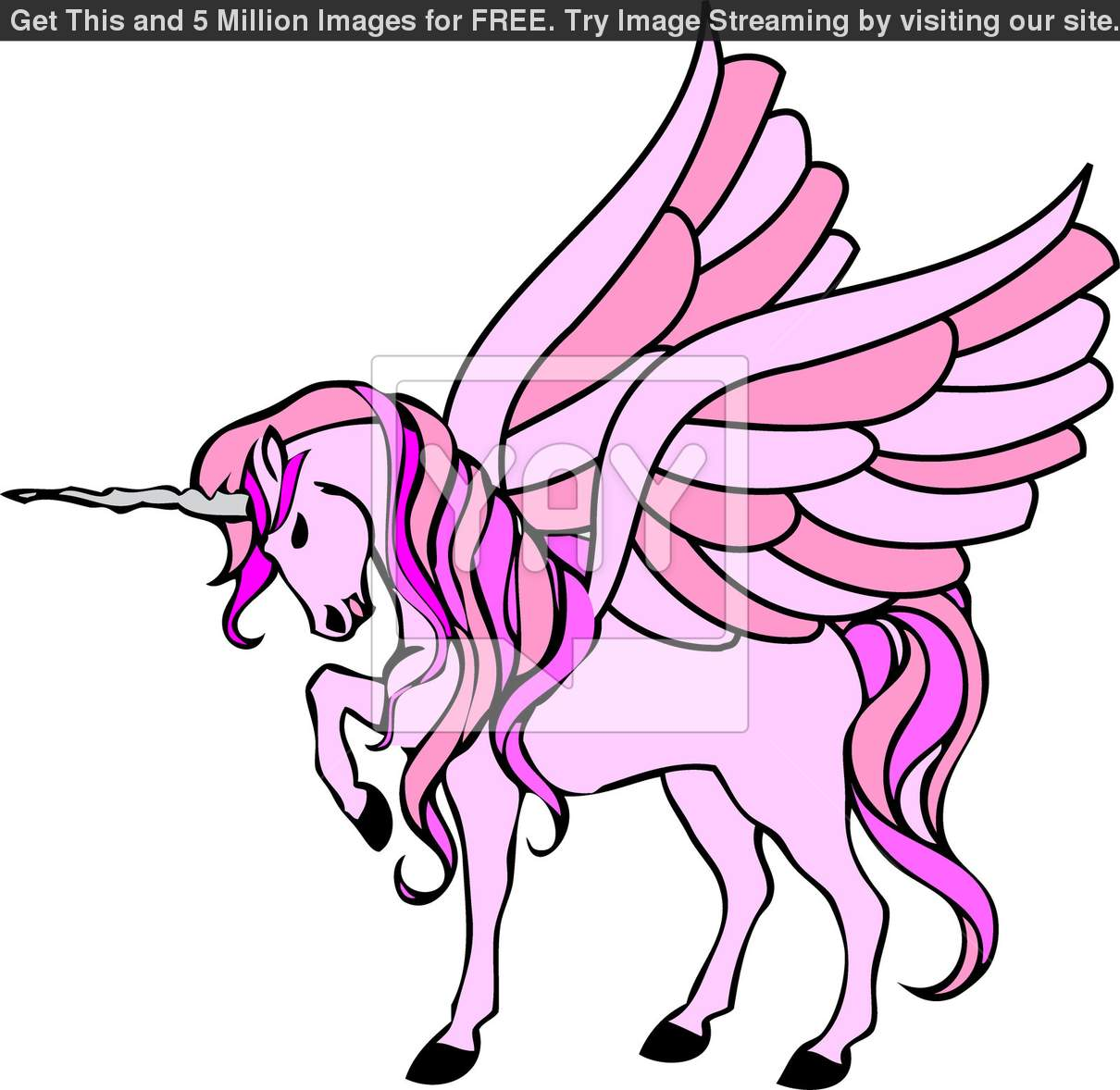 Unicorn Clipart With Wings.