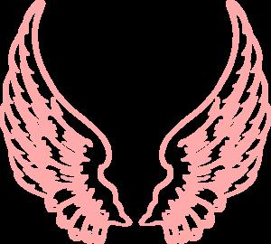 Pink Wings clip art.